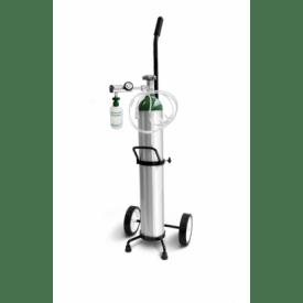 Kit Cilindrio de Oxigênio com Regulador, Frasco, Cânula e Carrinho