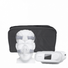 Kit CPAP automático DreamStation - Philips Respironics e Máscara nasal Mirage FX